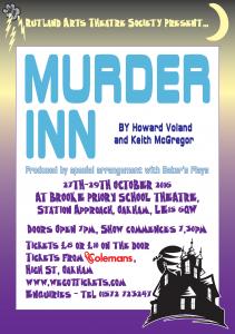 Murder Inn @ Brooke Priory School Theatre | Oakham | England | United Kingdom